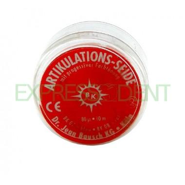 Артикуляционный шёлк BK08 80мкм красный, 10м