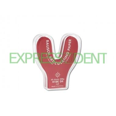 Артикуляционная бумага BK04 200мкм красная подкова, 50шт.