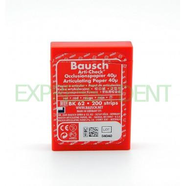 Артикуляционная бумага BK62 40мк красный, 200шт.
