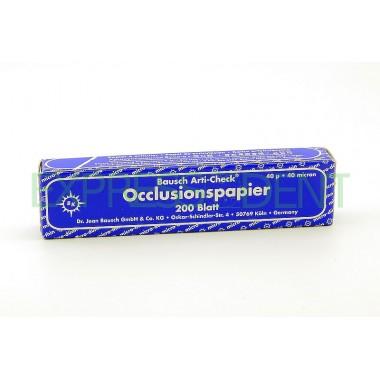 Артикуляционная бумага BK09 40мк синий, 200шт.