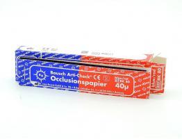 Артикуляционная бумага BK80 40мк синекрасный, 200шт.