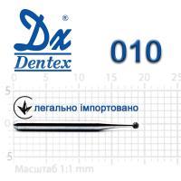 Бор  Dentex, алмазный на турбинный наконечник, 102 диаметр 010, 1шт.