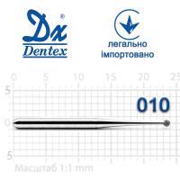 Бор  Dentex, алмазный на турбинный наконечник, 102L диаметр 010, 1шт.