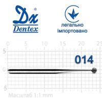 Бор  Dentex, алмазный на турбинный наконечник, 104L, диаметр 014, 1шт.