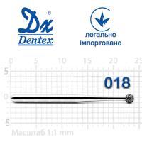 Бор  Dentex, алмазный на турбинный наконечник, 106L, диаметр 018, 1шт.