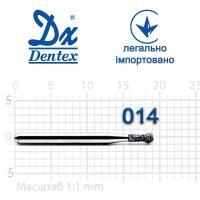 Бор  Dentex, алмазный на турбинный наконечник, 114 диаметр 014, 1шт.