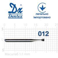 Бор  Dentex, алмазный на турбинный наконечник, 123 диаметр 012, 1шт.
