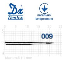 Бор  Dentex, алмазный на турбинный наконечник, 165 диаметр 009, 1шт.