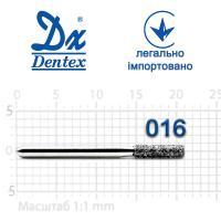 Бор  Dentex, алмазный на турбинный наконечник, 206C диаметр 016, 1шт.