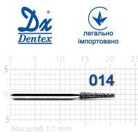 Бор  Dentex, алмазный на турбинный наконечник, 211 диаметр 014, 1шт.