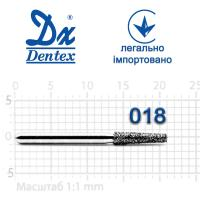 Бор  Dentex, алмазный на турбинный наконечник, 214 диаметр 018, 1шт.