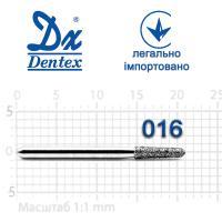 Бор  Dentex, алмазный на турбинный наконечник, 222 диаметр 016, 1шт. --