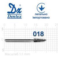 Бор  Dentex, алмазный на турбинный наконечник, 223 диаметр 018, 1шт. --