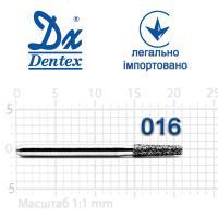 Бор  Dentex, алмазный на турбинный наконечник, 237 диаметр 016, 1шт.