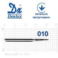 Бор  Dentex, алмазный на турбинный наконечник, 250 диаметр 010, 1шт.