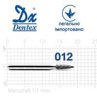 Бор  Dentex, алмазный на турбинный наконечник, 287 диаметр 012, 1шт.