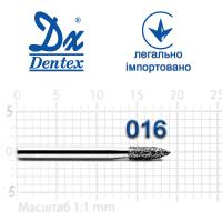 Бор  Dentex, алмазный на турбинный наконечник, 289 диаметр 016, 1шт. --