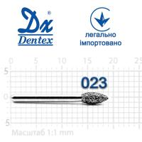 Бор  Dentex, алмазный на турбинный наконечник, 300 диаметр 023, 1шт.