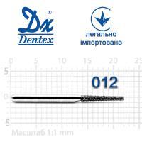 Бор  Dentex, алмазный на турбинный наконечник, 305 диаметр 012, 1шт.