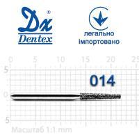 Бор  Dentex, алмазный на турбинный наконечник, 306 диаметр 014, 1шт.