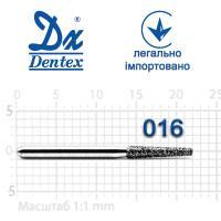 Бор  Dentex, алмазный на турбинный наконечник, 307 диаметр 016, 1шт.