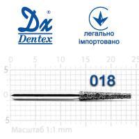 Бор  Dentex, алмазный на турбинный наконечник, 313  диаметр 018, 1шт.