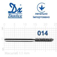 Бор  Dentex, алмазный на турбинный наконечник, 318 диаметр 014, 1шт.