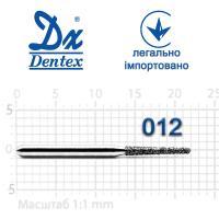 Бор  Dentex, алмазный на турбинный наконечник, 320 диаметр 012, 1шт.