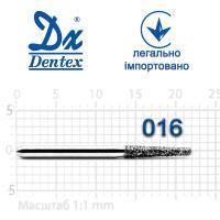 Бор  Dentex, алмазный на турбинный наконечник, 322 диаметр 016, 1шт.