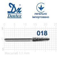 Бор  Dentex, алмазный на турбинный наконечник, 323 диаметр 018, 1шт.