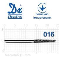 Бор  Dentex, алмазный на турбинный наконечник, 325 диаметр 016, 1шт.