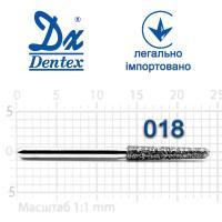 Бор  Dentex, алмазный на турбинный наконечник, 326B диаметр 018, 1шт.