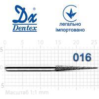 Бор  Dentex, алмазный на турбинный наконечник, 337L диаметр 016, 1шт.