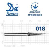 Бор  Dentex, алмазный на турбинный наконечник, 338 диаметр 018, 1шт.