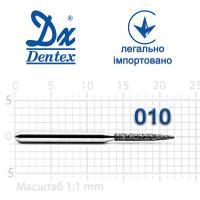 Бор  Dentex, алмазный на турбинный наконечник, 340 диаметр 010, 1шт.