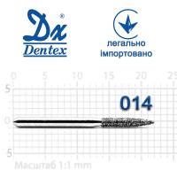 Бор  Dentex, алмазный на турбинный наконечник, 342 диаметр 014, 1шт.