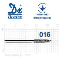 Бор  Dentex, алмазный на турбинный наконечник, 343 диаметр 016, 1шт.