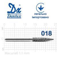 Бор  Dentex, алмазный на турбинный наконечник, 344 диаметр 018, 1шт.