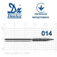 Бор  Dentex, алмазный на турбинный наконечник, 344B диаметр 014, 1шт.