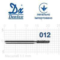 Бор  Dentex, алмазный на турбинный наконечник, 348 диаметр 012, 1шт.