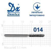 Бор  Dentex, алмазный на турбинный наконечник, 351 диаметр 012, 1шт.