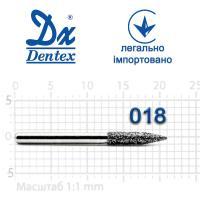 Бор  Dentex, алмазный на турбинный наконечник, 359 диаметр 018, 1шт.