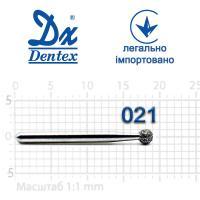 Бор  Dentex, алмазный на турбинный наконечник, 360 диаметр 021, 1шт.