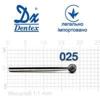 Бор  Dentex, алмазный на турбинный наконечник, 362 диаметр 025, 1шт.