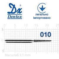 Бор  Dentex, алмазный на турбинный наконечник, 370 диаметр 010, 1шт.