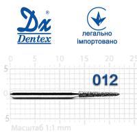 Бор  Dentex, алмазный на турбинный наконечник, 371 диаметр 012, 1шт.