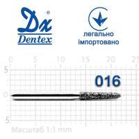 Бор  Dentex, алмазный на турбинный наконечник, 372B диаметр 016, 1шт.