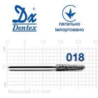 Бор  Dentex, алмазный на турбинный наконечник, 372C диаметр 018, 1шт.