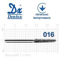 Бор  Dentex, алмазный на турбинный наконечник, 373 диаметр 016, 1шт.