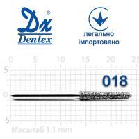 Бор  Dentex, алмазный на турбинный наконечник, 374 диаметр 018, 1шт.